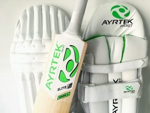 Batting Pads and Cricket Bat by Ayrtek Cricket